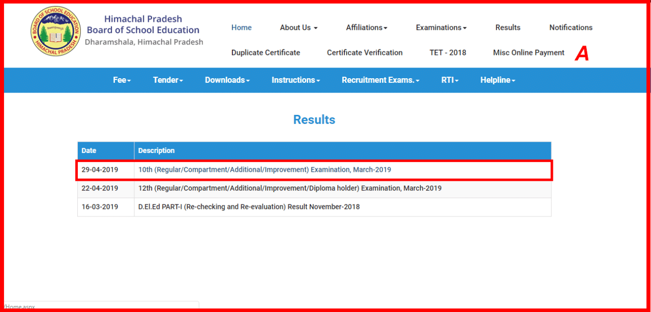 H P Board 10th Class Result 2019:- Check Result Now